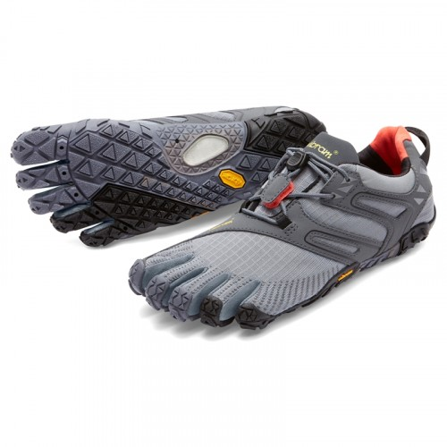 Vibram FiveFingers Womens V-Trail: Grey / Black / Orange