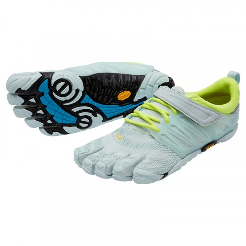 Vibram Five Fingers Womens V-Train : Pale Blue / Safety Yellow
