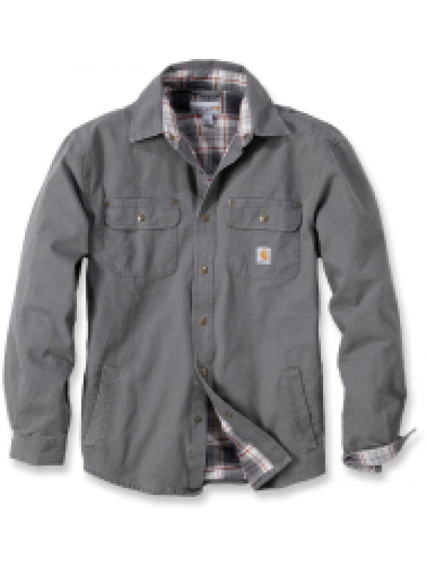 Carhartt Gravel Weathered Canvas Shirt Jacket