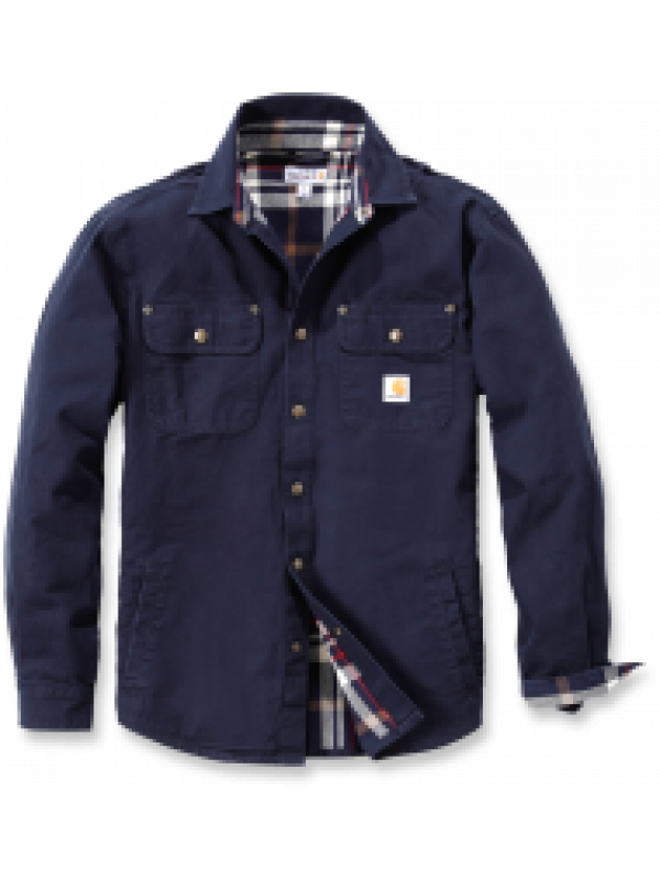 Carhartt Navy Weathered Canvas Shirt Jacket