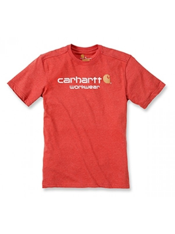 Carhartt Chilli Heather Classic Workwear Logo T-Shirt