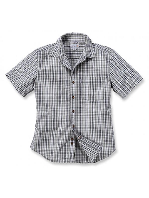 Carhartt Vapor Grey Short Sleeve Plaid Shirt