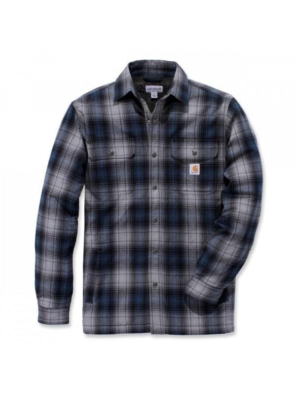 Carhartt Sherpa Lined Shirt Jacket : Steel Blue
