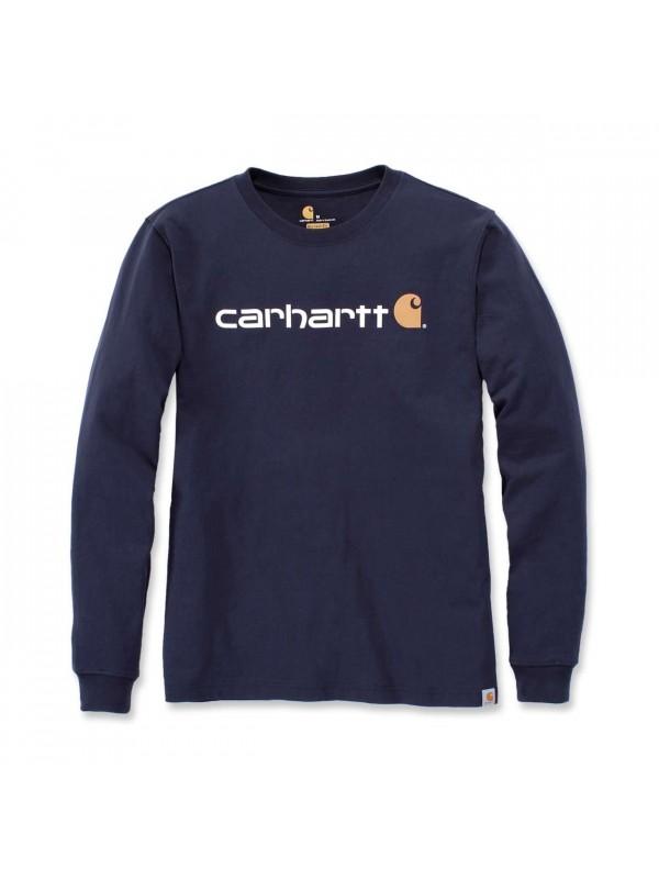 Carhartt  Core Logo Long Sleeved  T-Shirt  : Navy