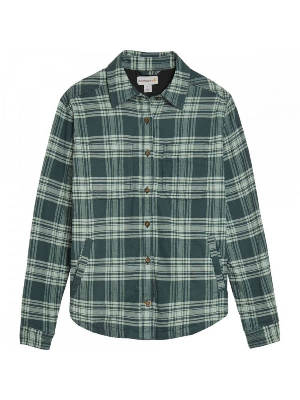 Carhartt Plaid Flannel Shirt Jacket : Fog Green