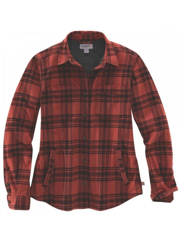 Carhartt Plaid Flannel Shirt Jacket : Redwood