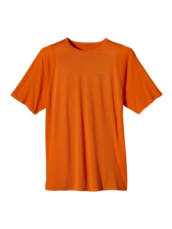 Patagonia Men's Tumeric Orange Short-Sleeved Air Flow Shirt