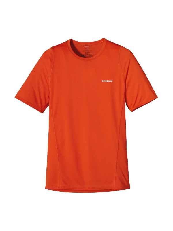 Patagonia Men's Eclectic Orange Short-Sleeved Fore Runner Shirt