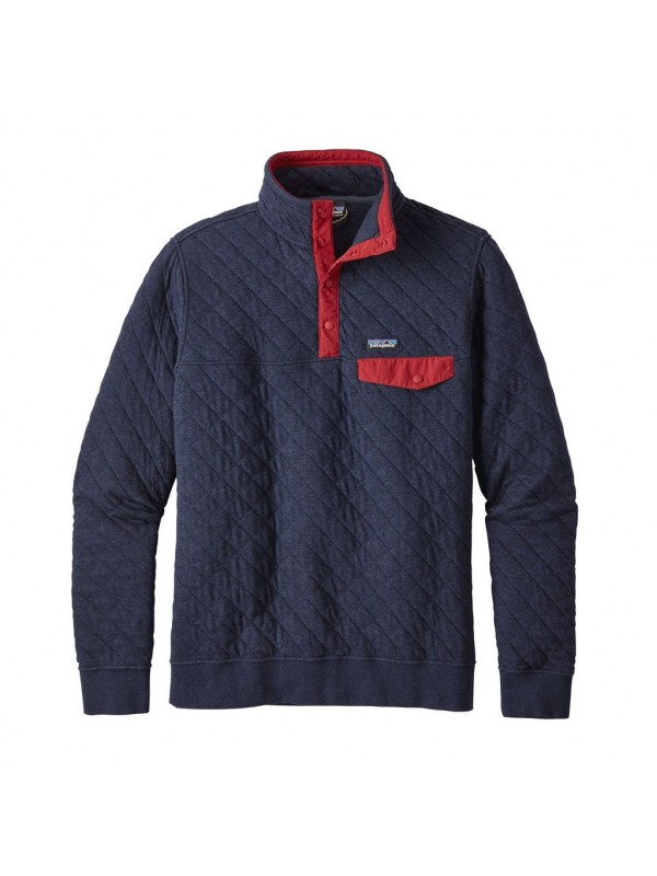 Patagonia Navy Blue Cotton Quilt Snap-T® Pullover