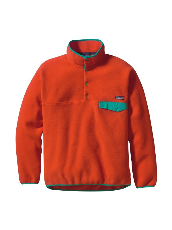 Patagonia Eclectic Orange Synchilla® Snap-T Fleece Pullover
