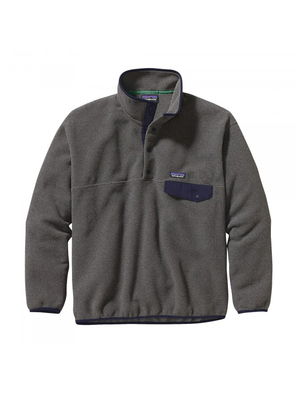 Patagonia Synchilla® Snap-T Fleece Pullover : Nickel w Navy Blue