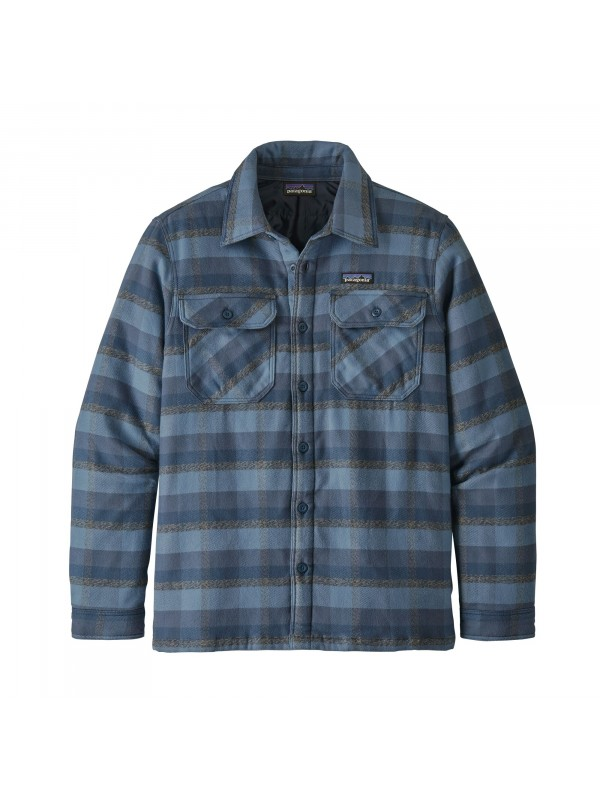 Patagonia Insulated Fjord Flannel Shirt Jacket : Observer: Woolly Blue