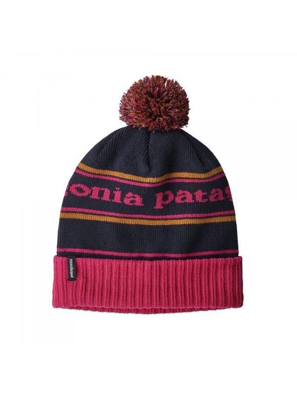 Patagonia Powder Town Beanie- Park Stripe : Craft Pink w Navy