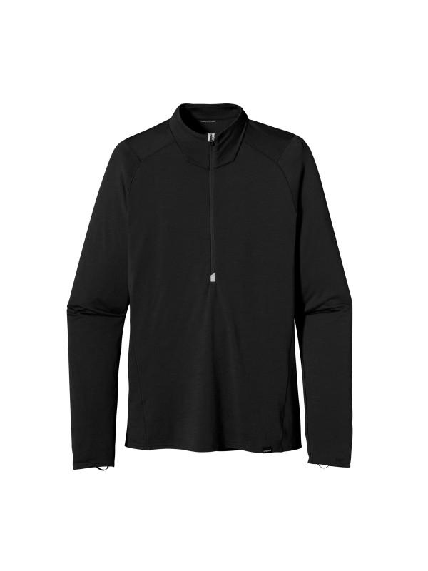 Patagonia Men's Black Merino 2 Lightweight Zip Neck