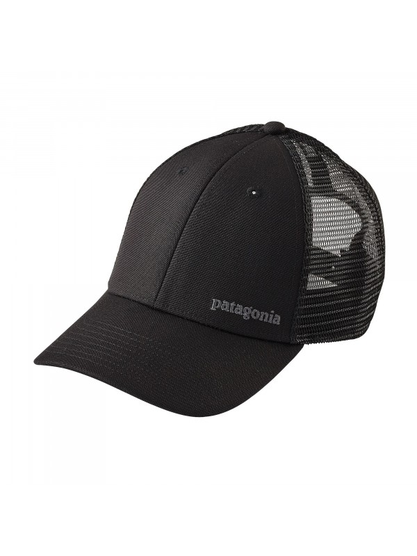Patagonia Small Text Logo LoPro Trucker Hat : Black