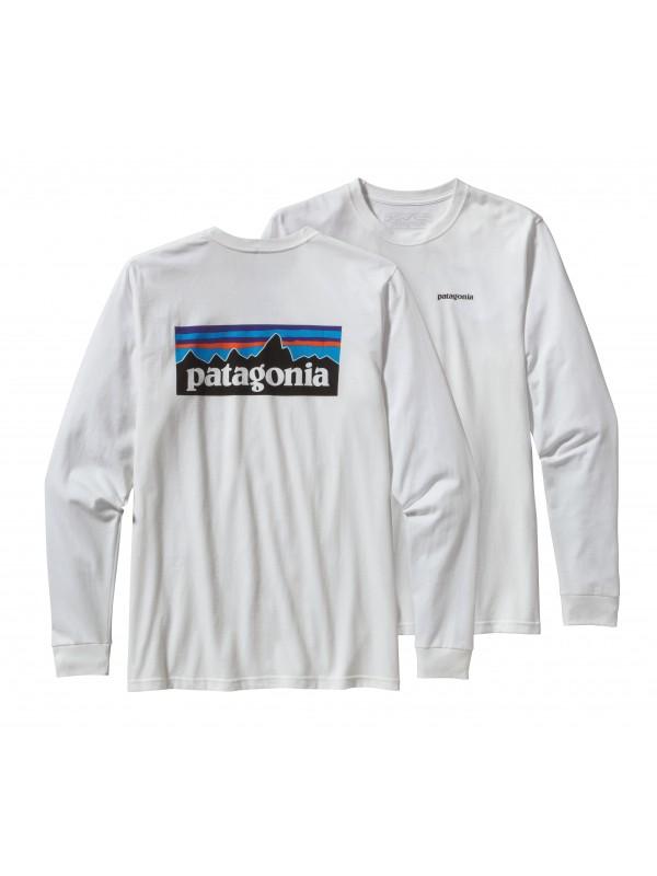 Patagonia Long-Sleeved P-6 Logo Organic Cotton T-Shirt :