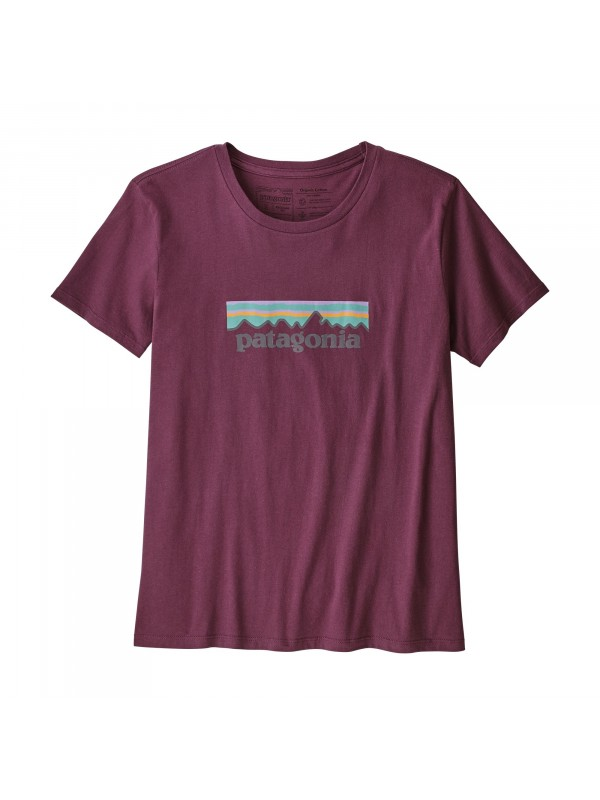 Patagonia Women's Pastel P-6 Logo Organic Cotton Crew T-Shirt : Light Balsamic