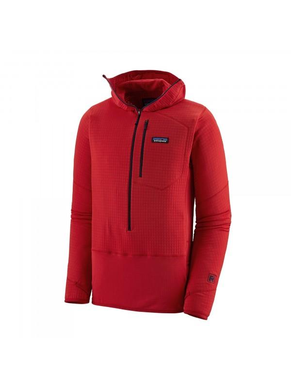 Patagonia Men's R1 Fleece Pullover Hoody : Fire