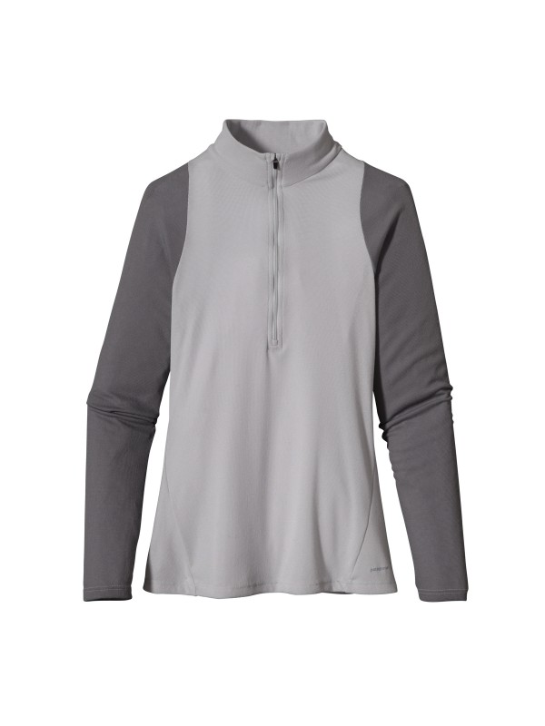 Patagonia Women's Capilene 2 Lightweight Zip-Neck -Tailored Grey 44861 TGY