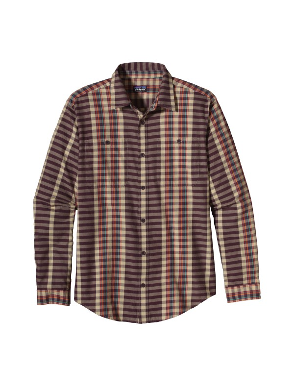 Patagonia Whiskey Plum Long-Sleeved Pima Cotton