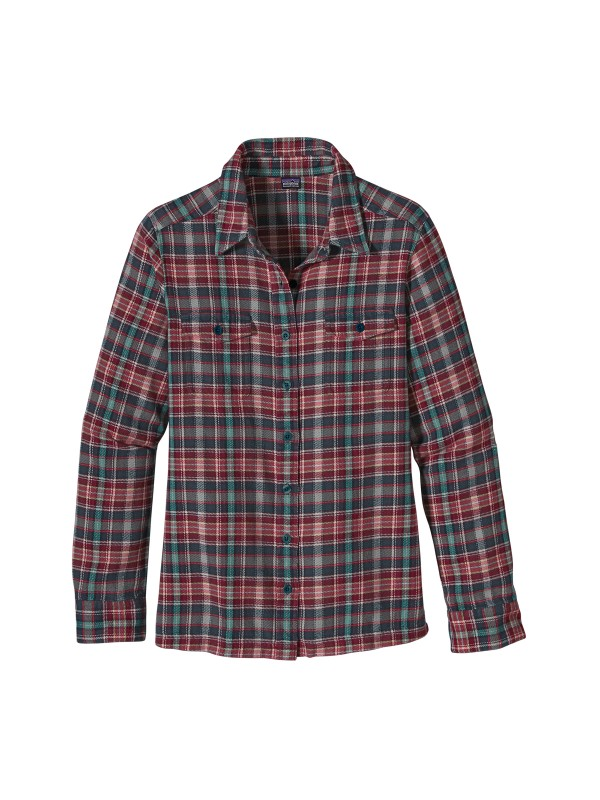 Patagonia W's Fjord Flannel Shirt: Tidal Teal