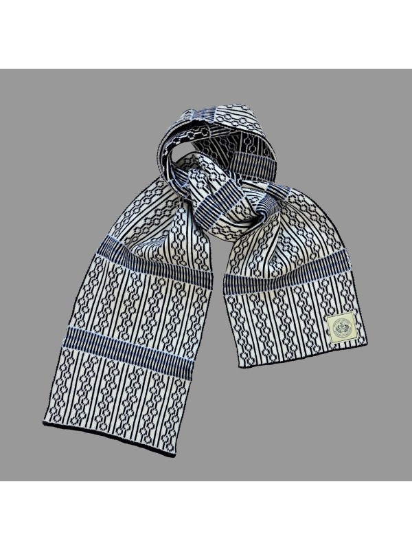 NORTH SEA CLOTHING LUXURY ADMIRAL SCARF - SKY BLUE