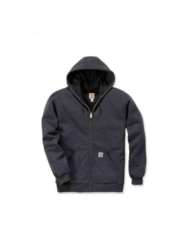 Carhartt Carbon Heather Thermal Lined Zip Front Hooded Sweatshirt
