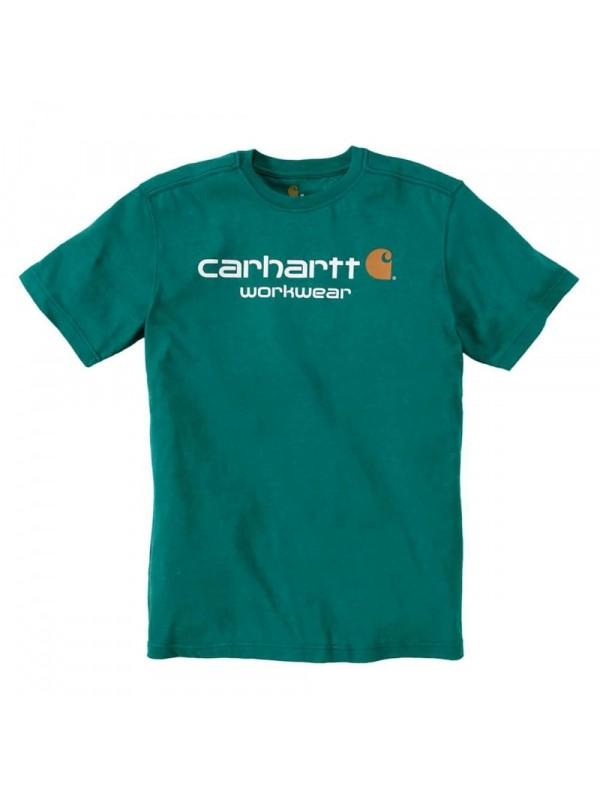 Carhartt Alpine Green Heather Classic Workwear Logo T-Shirt