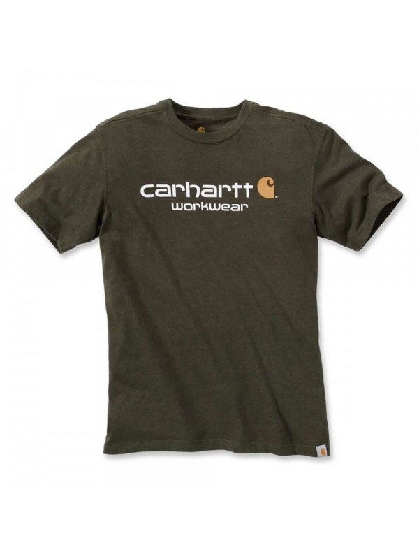 Carhartt Moss Heather Classic Workwear Logo T-Shirt
