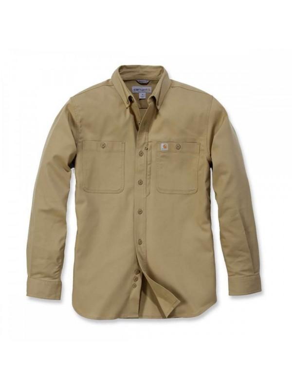 Carhartt Long Sleeved Work Shirt : Dark Khaki