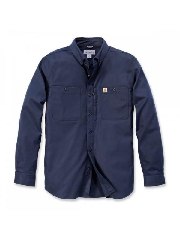 Carhartt Navy Long Sleeved Work Shirt
