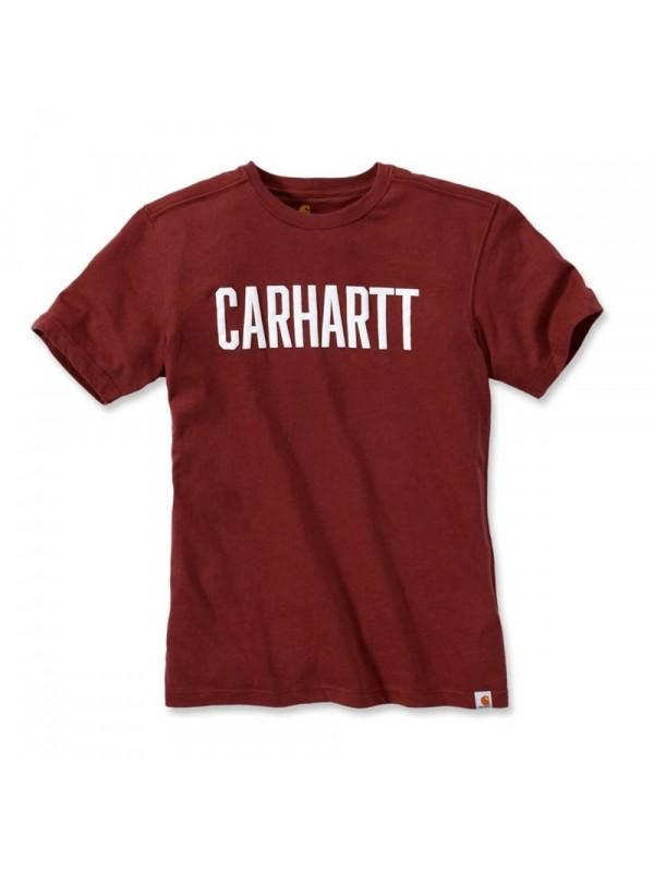 Carhartt Fired Brick Heather Block Logo T-Shirt