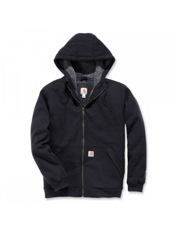 Carhartt Sherpa Lined Full Zip Hooded Sweatshirt : Black