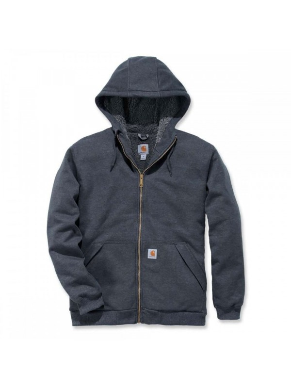 Carhartt Sherpa Lined Full Zip Hooded Sweatshirt : Carbon Heather