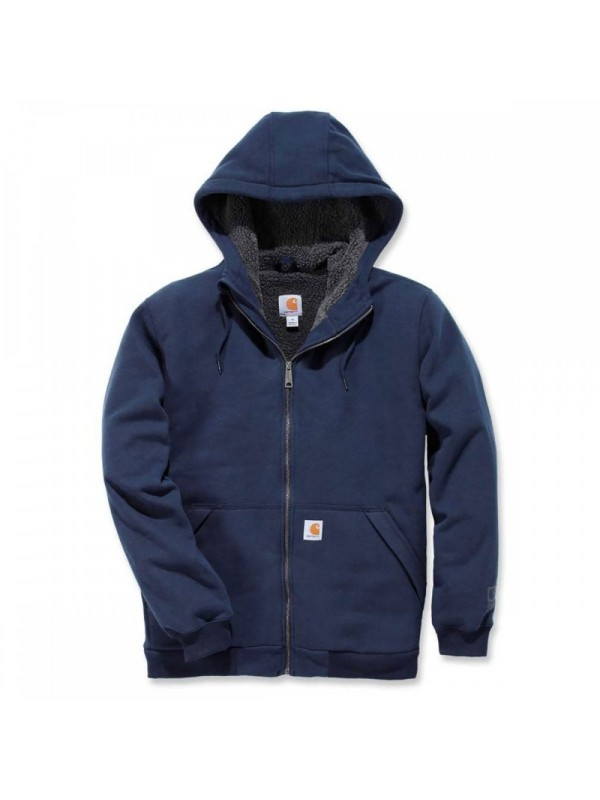 Carhartt Sherpa Lined Full Zip Hooded Sweatshirt : New Navy