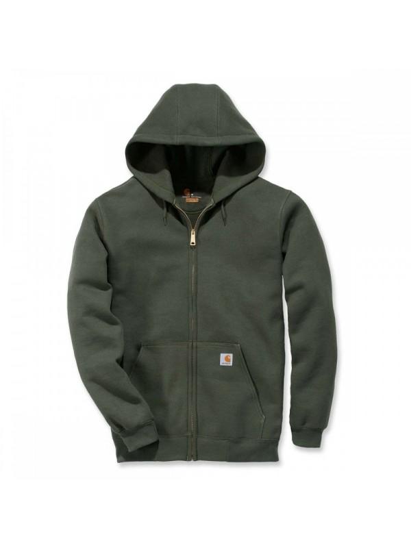Carhartt Midweight Hooded Zip Front Sweatshirt : Moss