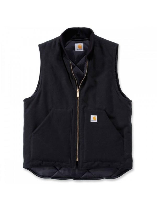 Carhartt Black Arctic Quilt Lined Vest