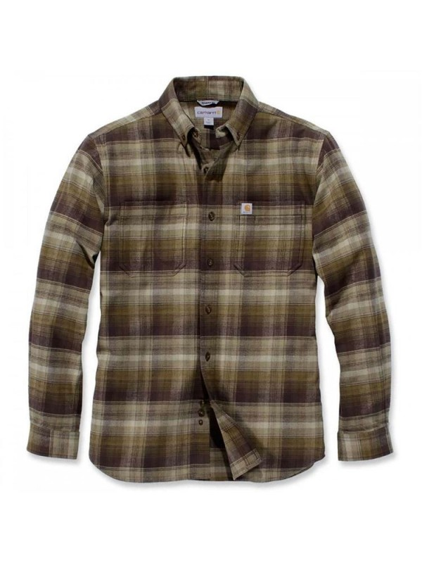 Carhartt Plaid Long Sleeve Shirt  : Military Olive
