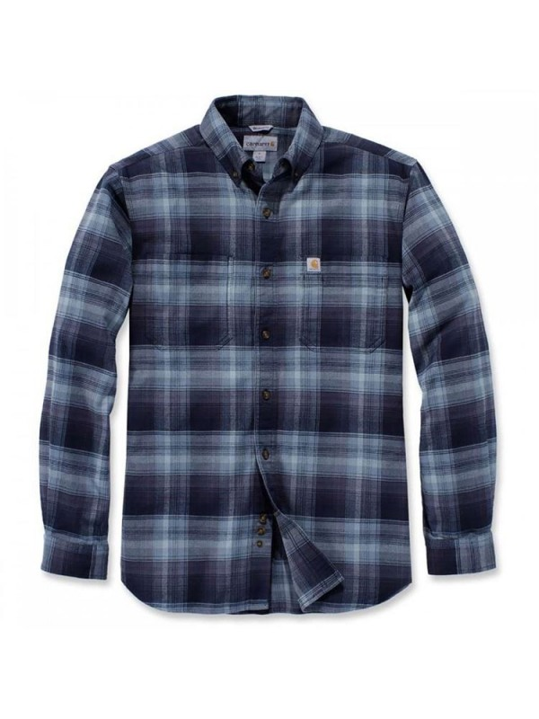Carhartt Hamilton Plaid Long Sleeve Shirt  : Navy