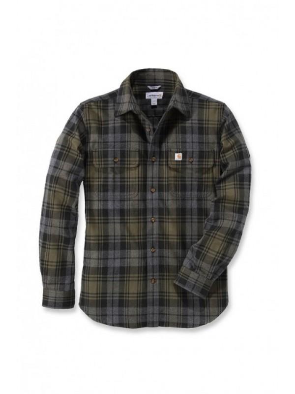 Carhartt  Moss Hubbard Slim Fit Flannel Shirt