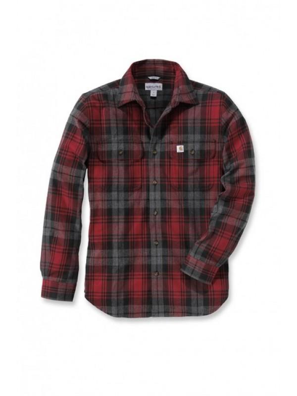 Carhartt  Hubbard Slim Fit Flannel Shirt : Dark Crimson