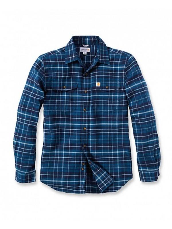 Carhartt Stream Blue Trumbull Flannel Shirt