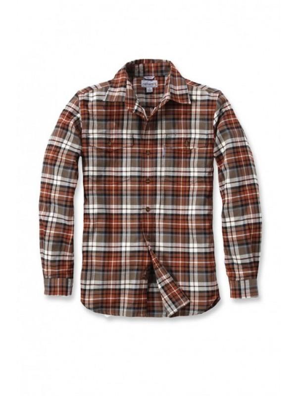 Carhartt Light Brown Trumbull Flannel Shirt