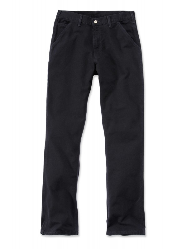 Carhartt Washed Work Pant : Black