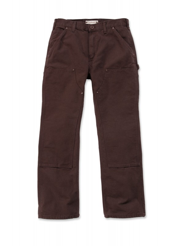 Carhartt Washed Double Front Pant : Dark Brown