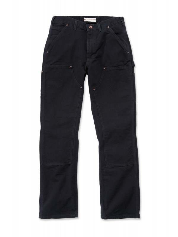 Carhartt Washed Double Front Pant :  Black