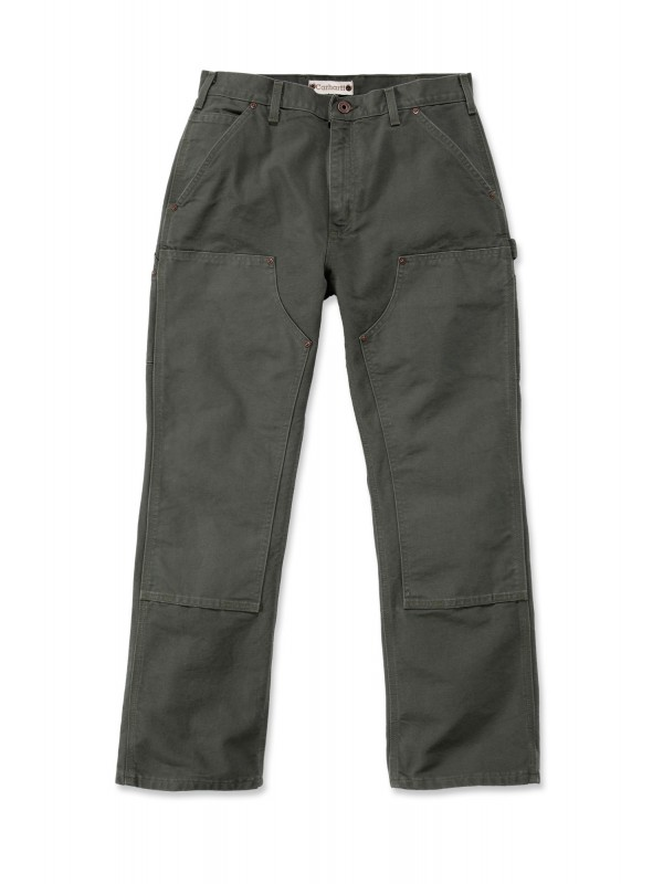 Carhartt Washed Double Front Pant : Moss