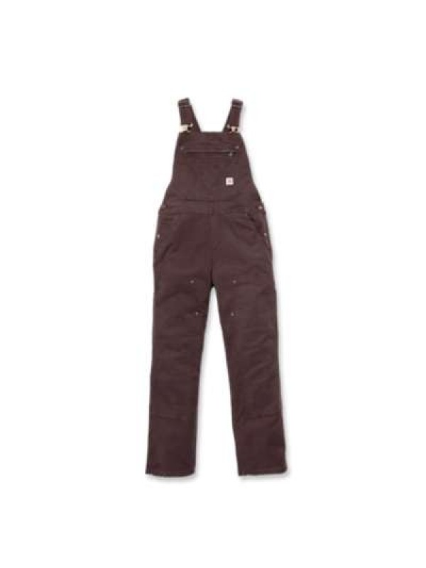 Carhartt Womens Crawford Double Front Bib : Dark Brown