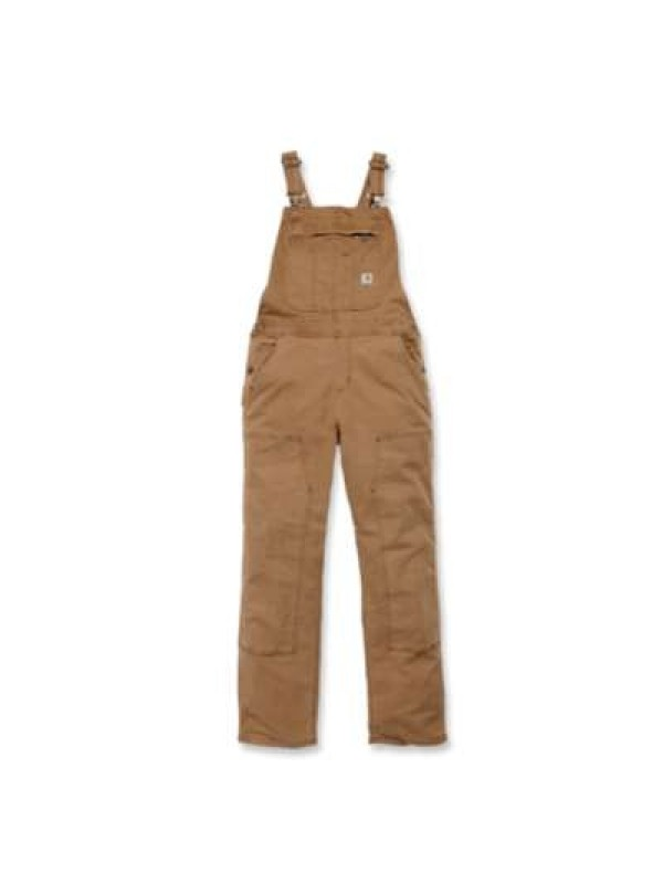 Carhartt Womens Crawford Double Front Bib : Brown