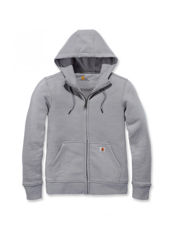 Carhartt Womens Clarksburg Full Zip Hoodie : Asphalt Heather